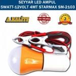 SEYYAR LED AMPUL 5W/12V 4MT KABLO